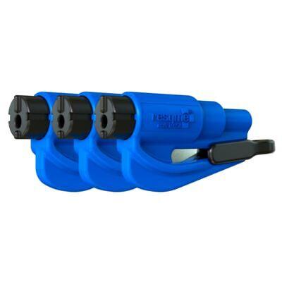 resqme® Car Escape Tool - Blue, 3 pack, Seatbelt Cutter / Window Breaker