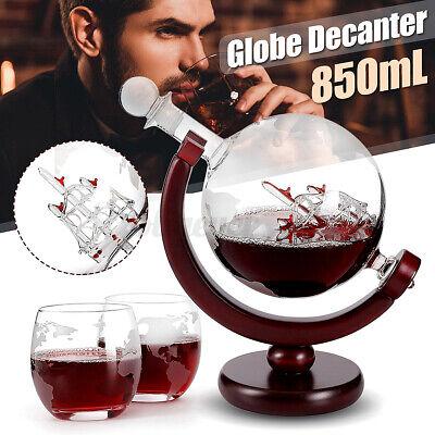 850ml Globus Globe Whisky Dekanter Wein Glas Karaffe Weindekanter Dekantier