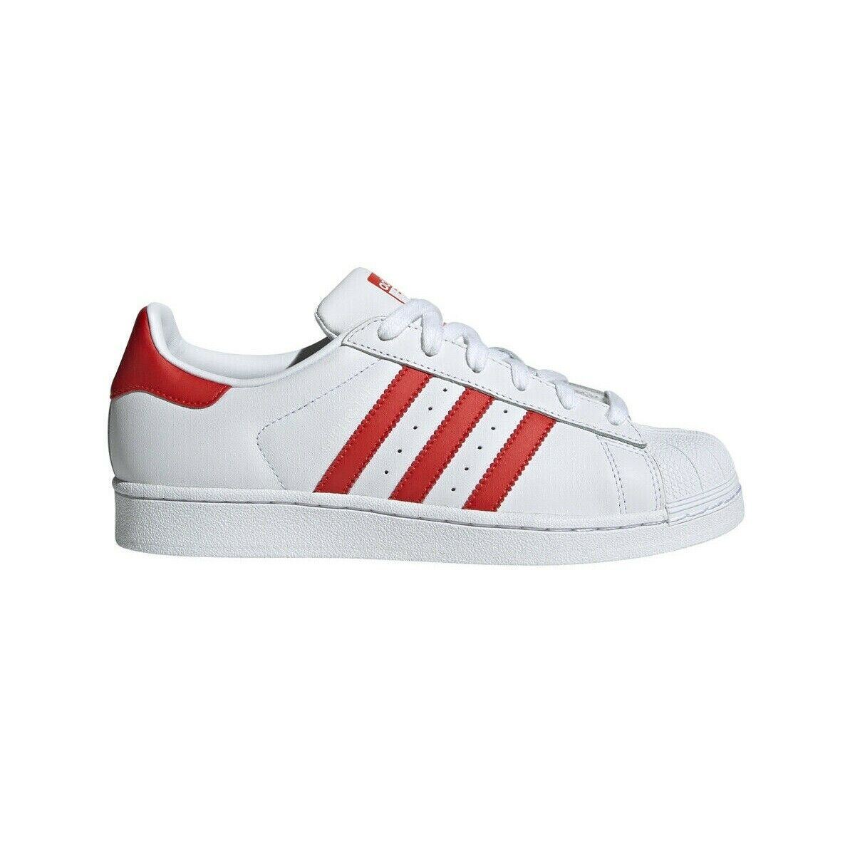 New Adidas Women's Originals Superstar Shoes (CM8413) White//Active Red-Black