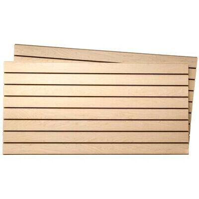 Melamine Slatwall Panels In Maple 4 Wide X 2 High Feet - Count Of 2
