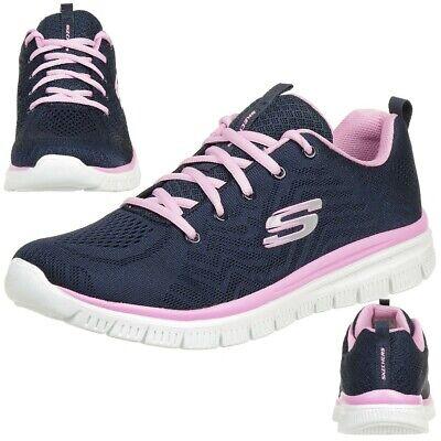 Light Navy Schuhe (Skechers Graceful Get Connected Damen Fitnessschuhe Lightweight navy)