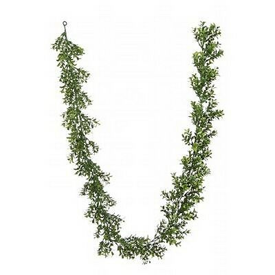 Artificial Boxwood Garland (72 inch Artificial Outdoor Boxwood Garland Plant Arrangement Christmas Tree)