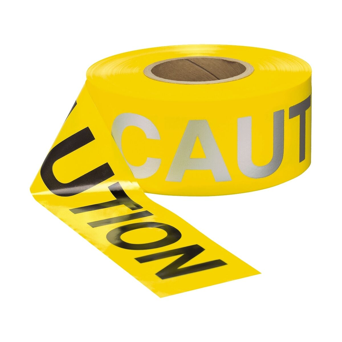 Yellow Reflective CAUTION Tape, 1000 Foot Roll, 2.5 Mil