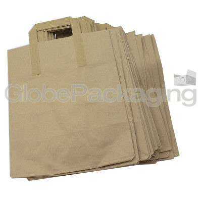50 LARGE KRAFT PAPER CARRIER SOS BAGS 10x5.5x12.5
