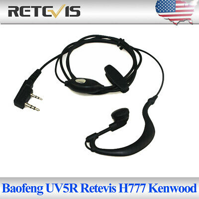 Retevis H777 Baofeng UV5R Kenwood 2PIN Earpiece Two Way Radios Headset Acc US