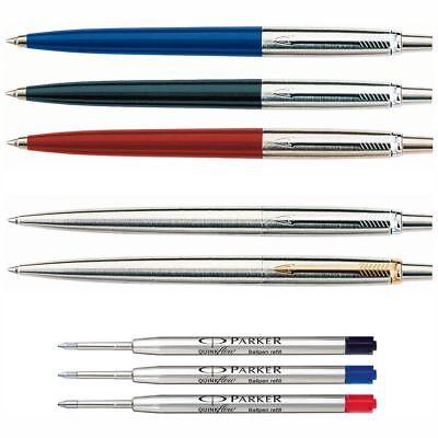 PARKER Kugelschreiber Jotter M rot blau schwarz Edelstahl Ersatzmine M [wählbar]