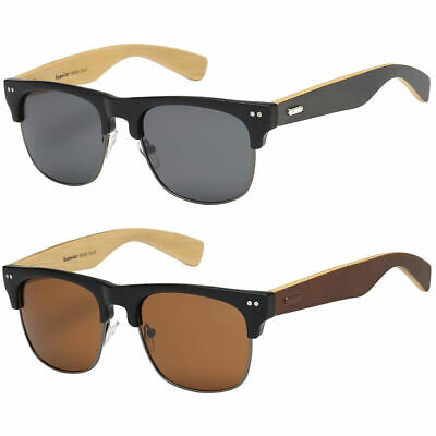 New Bamboo Sunglasses Wood Wooden Men Women Summer Glasses Retro Vintage (Vogue Sunglasses Men)