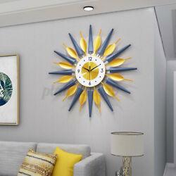 25 Large 3D Wall Clock Modern Big Metal Watch Golden Luxury Diamond Home Decor