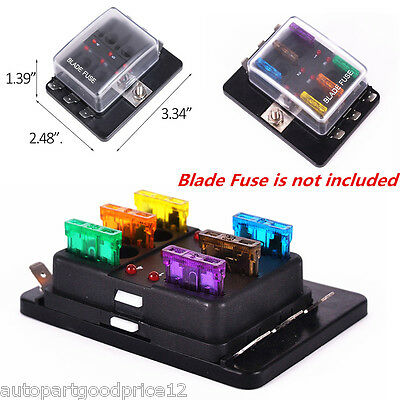 DC 32V 6 Way Blade Fuse Block Holder Terminals Circuit Car Auto Fuse Box ATC ATO