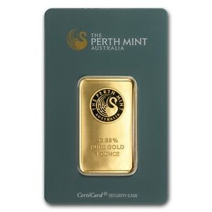 1 oz Perth Mint Gold Bar - In Assay Card - SKU #57159