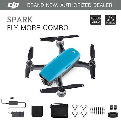 DJI Spark Fly More Combo - Sky Blue Quadcopter Drone - 12MP 1080p Video