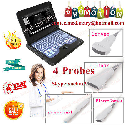 Hot Portable Ultrasound Scanner Laptop Machine Convexcardiaclineartranvaginal