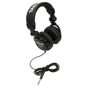Closed Back Studio Headphones Black Dj Tools Home Recording Mixing Foldable