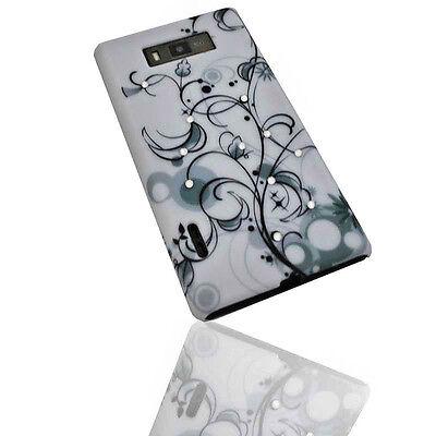 Design Strass 1 Hard Back Handy Cover Case Hülle für LG P700 Optimus L7 (Handy Case Lg Optimus)