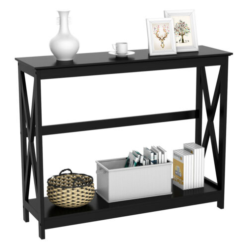 Console Table Modern Accent Side Stand Sofa Entryway Hall Di