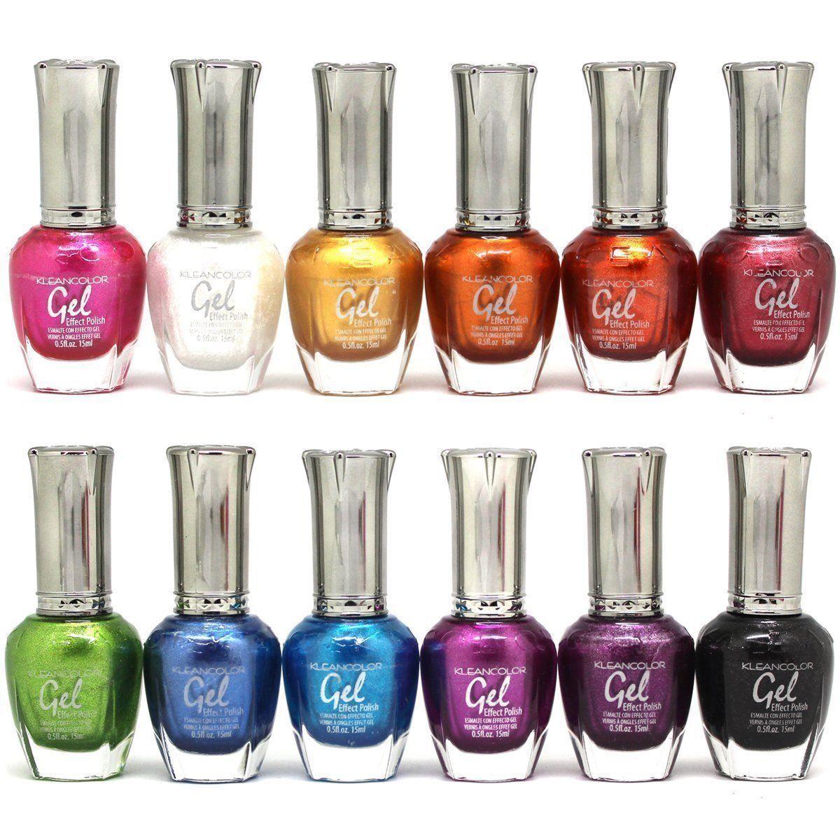 12 Kleancolor GEL NO UV LED Nail Polish Lacquer 15mL Choose