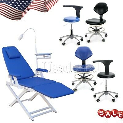 Dental Portable Mobile Chair With Led Light Folding Unit Chairmobile Chair Usa