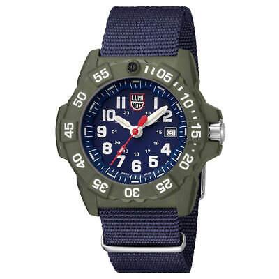 Men's Luminox 3503.ND Navy Seal Blue Dial Blue Nylon Strap Watch 2 year Warranty