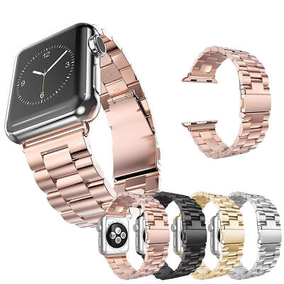 Stainless Steel Folding Clasp - Folding Clasp Stainless Steel Watch Band Strap For Apple Watch