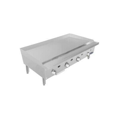 Atosa Usa Attg-48 48 Countertop Gas Griddle With Thermostatic Controls