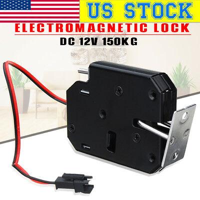 Us Electric Magnetic Lock 150kg330lb Door Access Control Dc 12v Cabinet Boxes