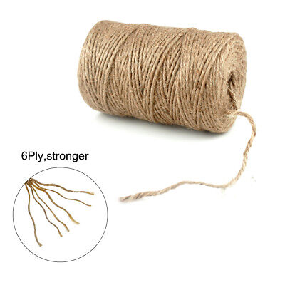 6Ply 100m/Roll Natural Brown Soft Jute Twine Sisal String Rustic Shabby Cord