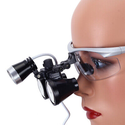 Dental Surgical Binocular Loupe Magnifier Glasses 3.5x-r Dentisit Led Head Light