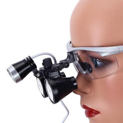 Dental Surgical Binocular Loupe Magnifier Glasses 3.5x-r Dentisit Led Head Light