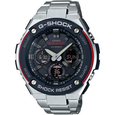 Mens Watches - Casio G-Steel Men's GSTS100D-1A4 Tough Solar Super Illuminator 52.5mm Watch
