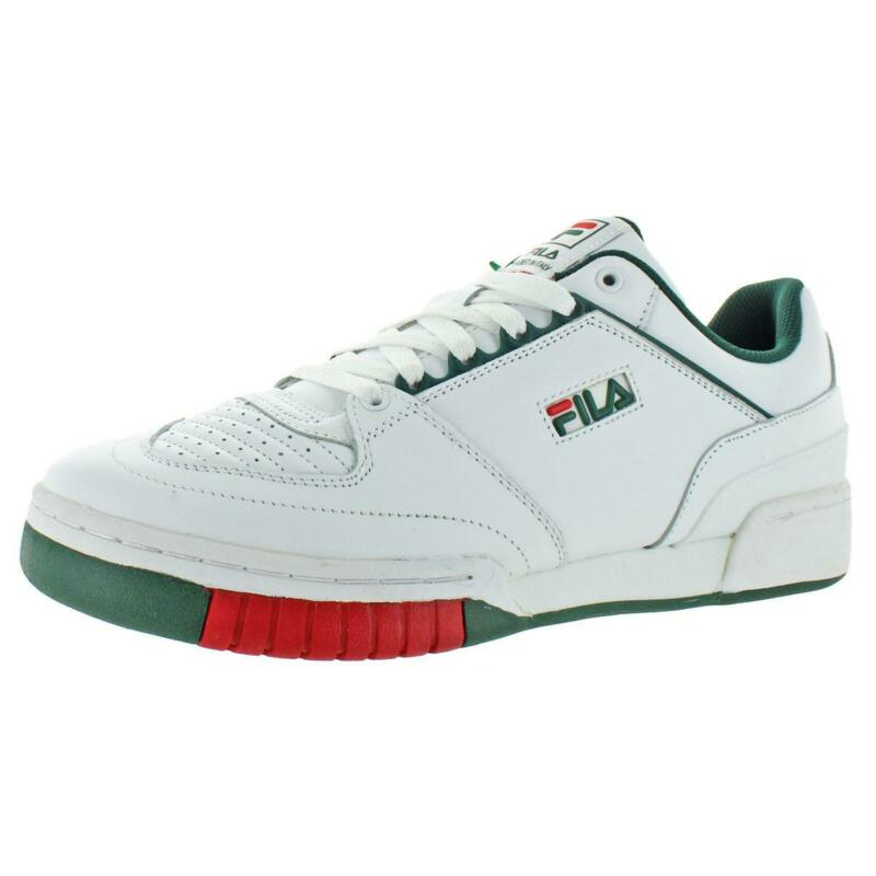 Fila Mens Targa White Leather Tennis Shoes Sneakers 11 Medium (D) BHFO 5523