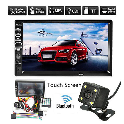 "7"" Dead ringer 2DIN Car MP5 MP3 Player Bluetooth Touch Screen Stereo FM Radio +Camera"