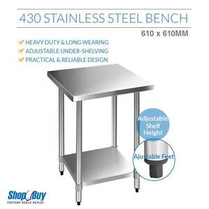 Free Delivery: Commercial Stainless Steel Kitchen Work Bench Foo Box Hill Whitehorse Area Preview