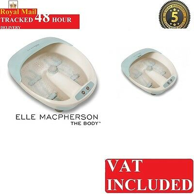 Homecis ELM-FS110A-GB Elle Macpherson 3-in-1 Foot Spa With 4 Massage Rollers New