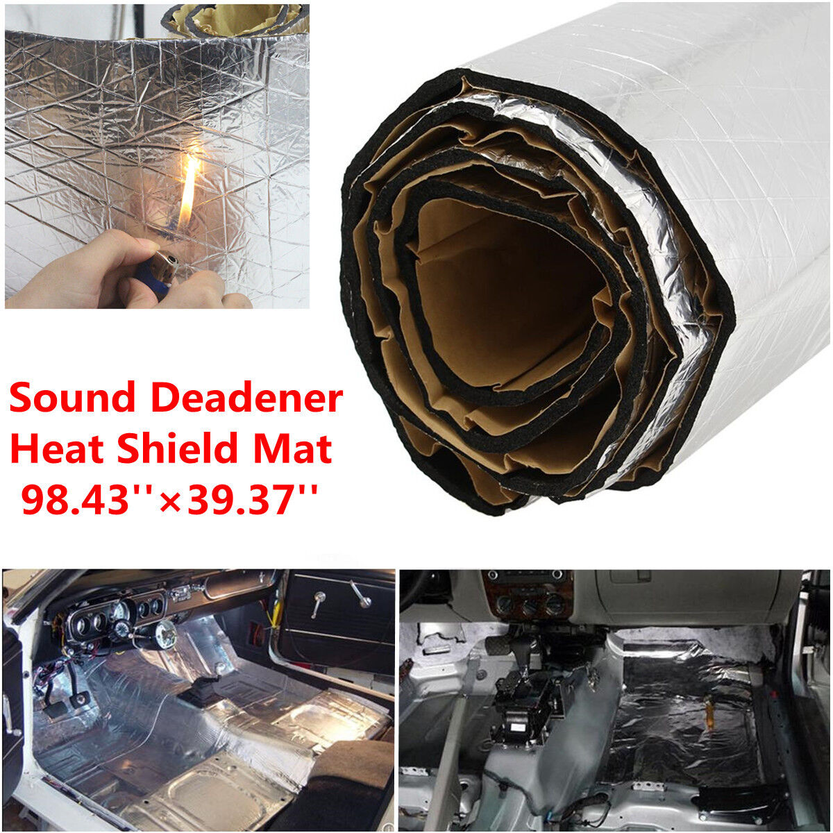 autos heat shield sound deadener insulation deadening. Black Bedroom Furniture Sets. Home Design Ideas