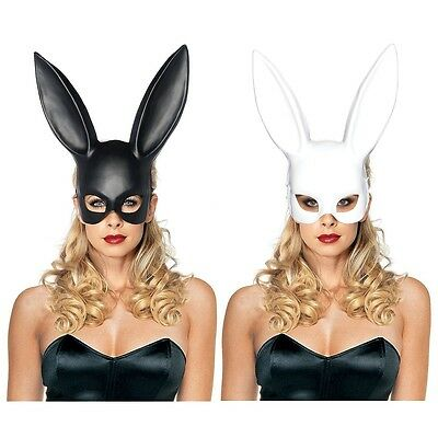 Bunny Mask Adult Masquerade Rabbit Halloween Costume Fancy Dress - Black Bunny Mask