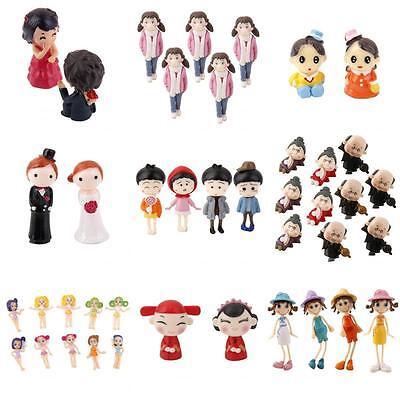 1 Set Miniature Mini Fairy Garden Terrarium Figurine Bonsai Dollhouse Decor
