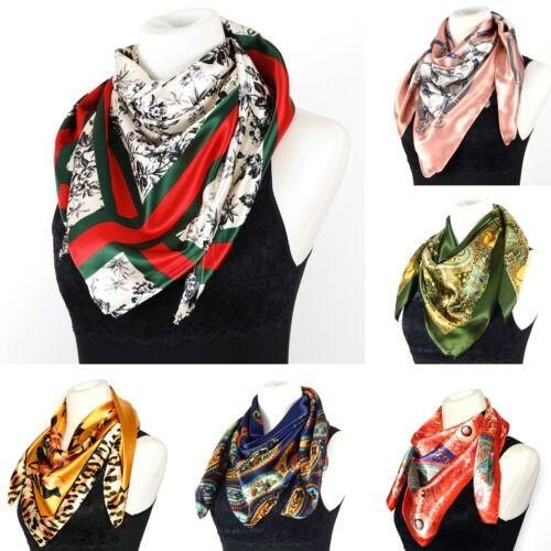 Ladies Fashion Silken Satin Square Scarf - Large 35 x 35