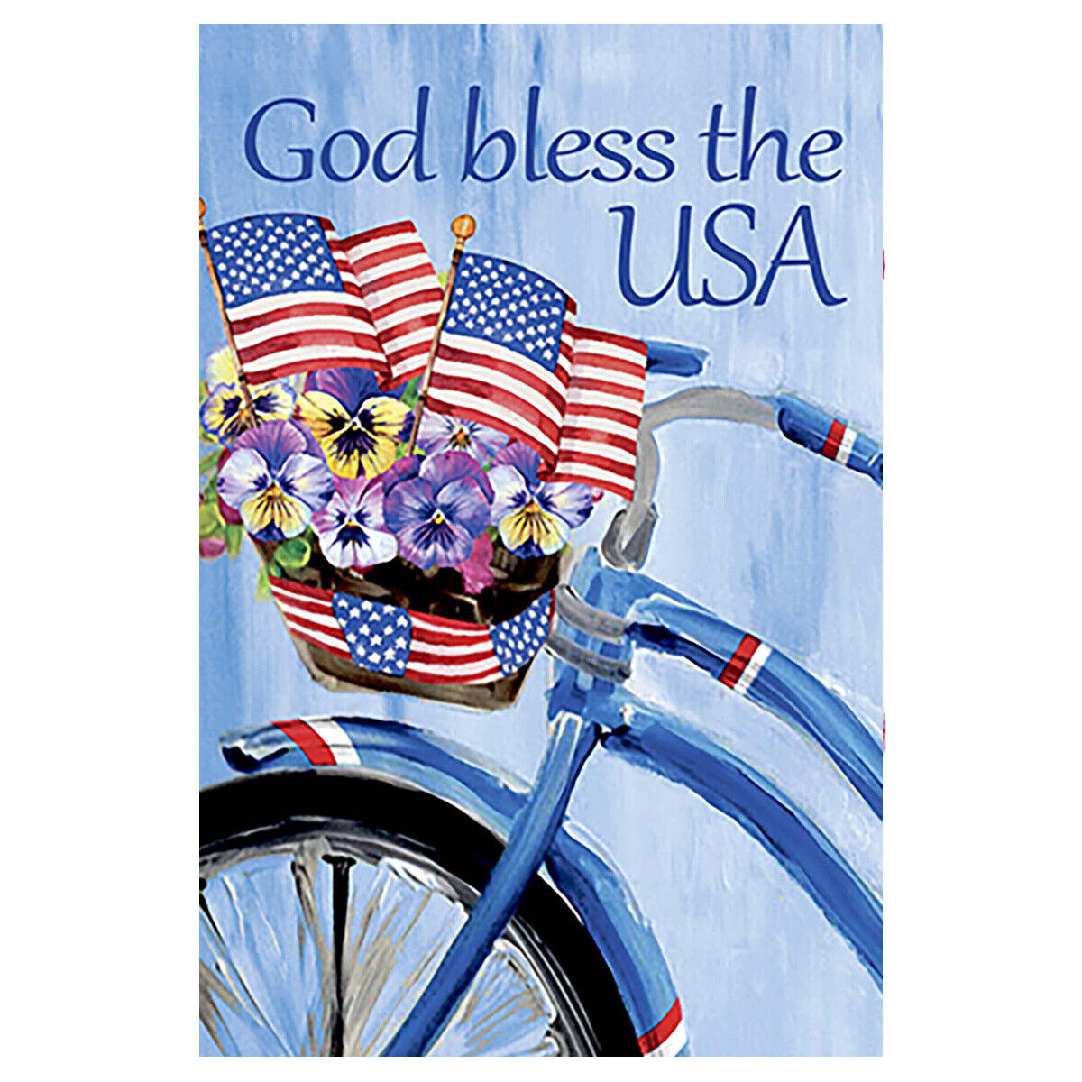 Morigins Patriotic Floral Bicycle Double Sided God Bless The