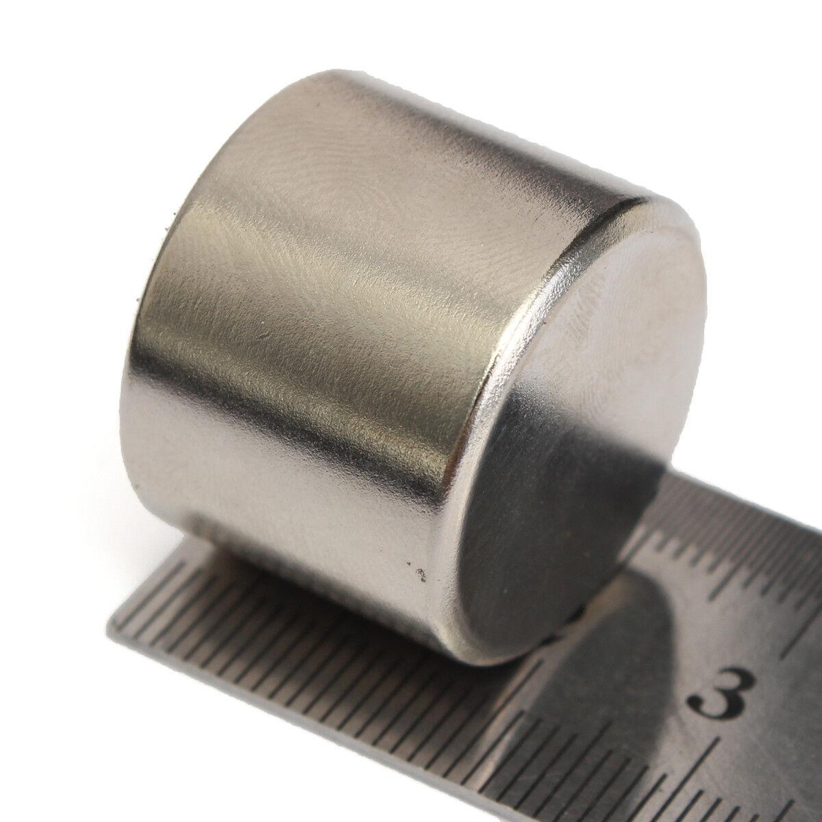 1x Super Strong Round Cylinder Fridge Magnet 25x20mm Rare Earth Neodymium N52