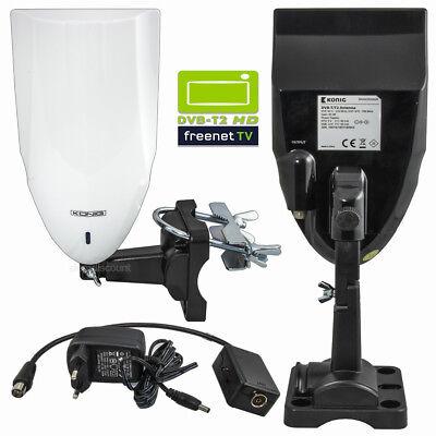 DVB-T2 HD Aussenantenne mit Verstärker 40 dB VHF UHF Camper Camping Wohnmobil TV Uhf Mobile Antenne