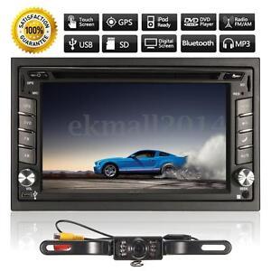 GPS-HD-2DIN-6-2-Ecran-Tactile-Autoradio-Stereo-DVD-Bluetooth-MP3-TV-USB-Camera