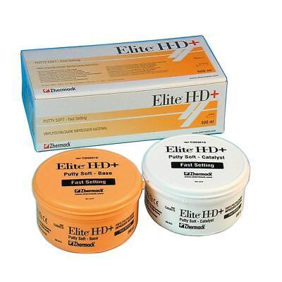 Elite Hd Putty Soft Fast Set 500ml 2 X 250ml Zhermack C203010 Exp2022-07
