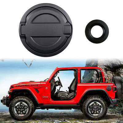 Oil Fuel Filler Tank Gas Cap Cover Door Accessories for 2018-21 Jeep Wrangler JL