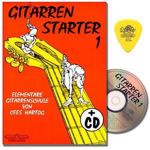 Cees Hartog - Gitarren Starter 1 - Gitarrenschule mit CD, PLEK - 9990050673372