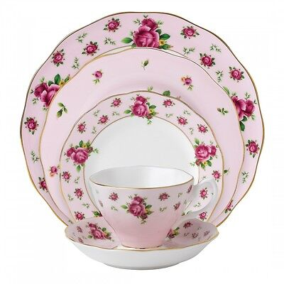 Royal Albert New Country Roses Pink 40Pc China Set, Service for 8