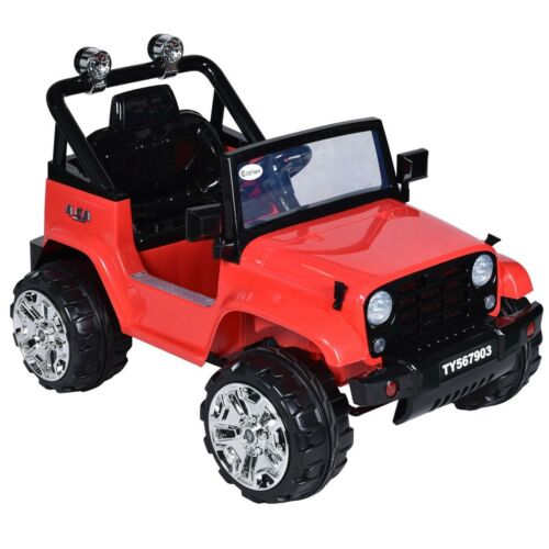 12 V Kids Child Music Remote Control Ride on Jeep Car Toy w/