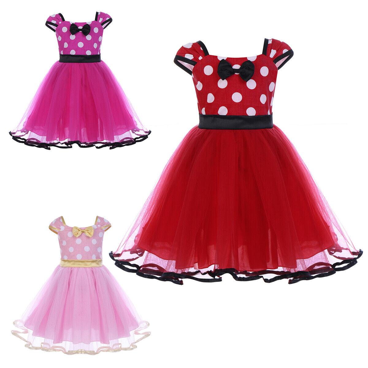 Kids Baby Girls Fairy Bow Paillett Tutu Princess Party Princess Dress 3-24M