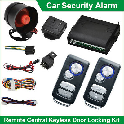 UNIVERSAL CAR CENTRAL LOCKING KIT SECURITY ALARM SYSTEM KEYLESS ENTRY SYSTERM