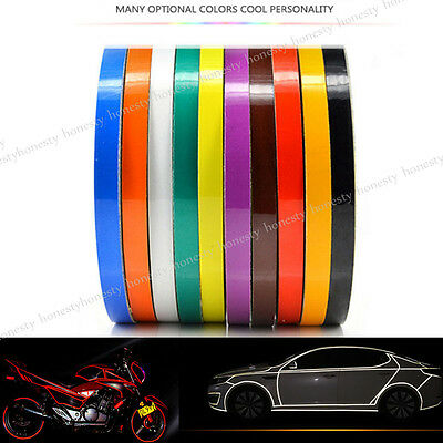 10 Color Car Reflective Safety Warning Conspicuity Tape Film Sticker Multicolor