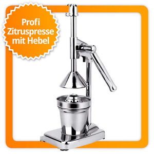 Hebel Saftpresse Zitruspresse Orangensaftpresse Orangenpresse aus Edelstahl